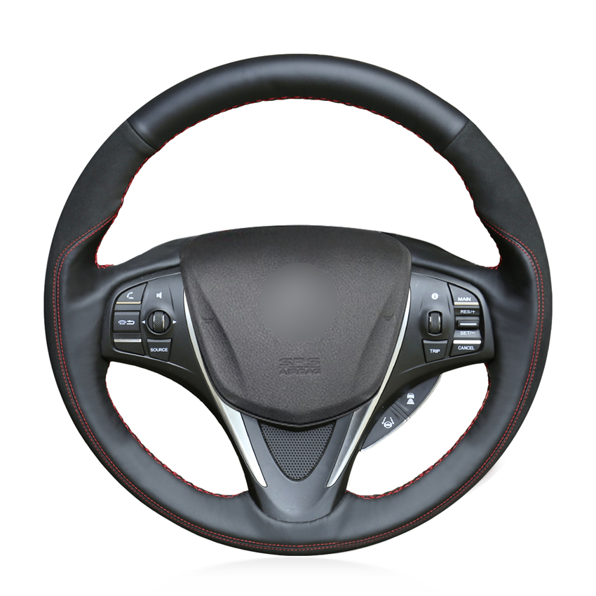 Leather Car Steering Wheel Cover For Acura TLX 2015-2018