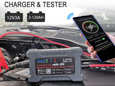 NEW Bluetooth Smart Car Charger Tester with Estimated Charging Time