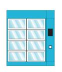 Food warmer delivery locker