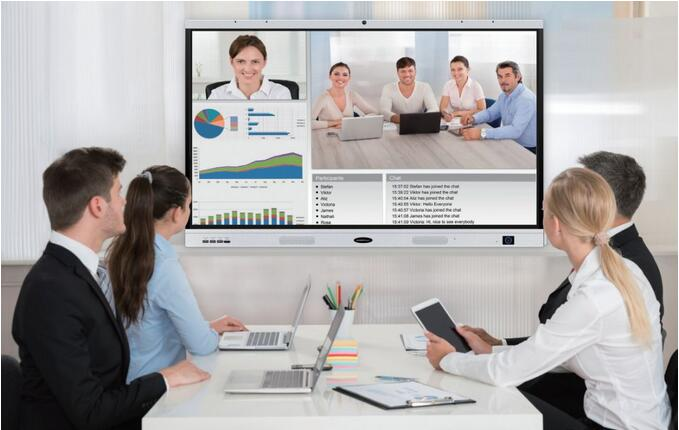 interactive flat panel for conference