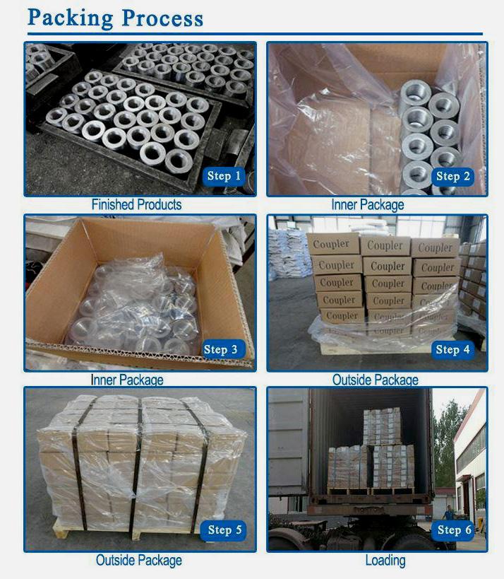 packing of rebar coupler