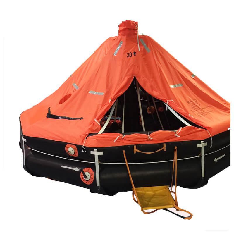 inflatable davit launched liferaft