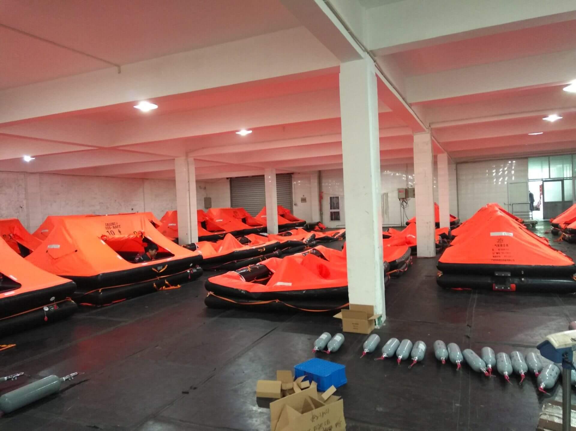 davit launched liferaft workshop