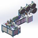 In-line mask making machine