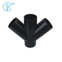 PN6 110mm HDPE Drainage Fittings Siphon Lateral Cross With Injection Technic