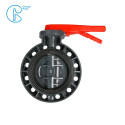 Water Supply Pvc Ball Valve / Butterfly Valve With Plastic Hand Type