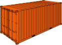 """20' Steel Cargo Container / 8' 6"""" high"""