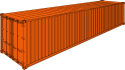 """40' Steel Cargo Container / 8' 6"""" high"""