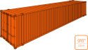 """45' High Cube Cargo Container / 9' 6"""" high"""