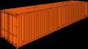 """40' Hardtop Cargo Container / 8' 6"""" high"""