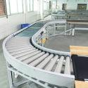 Roller turning conveyor Goods transport conveyor Logistics Transport conveyor