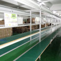 Assembly line transmission line (aluminium) with long workbench 11m Transmission line for many products manufacturing.