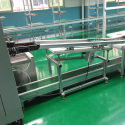 Wave soldering infeed conveyor to feed your PCB with jig carrier to wave soldeing machine