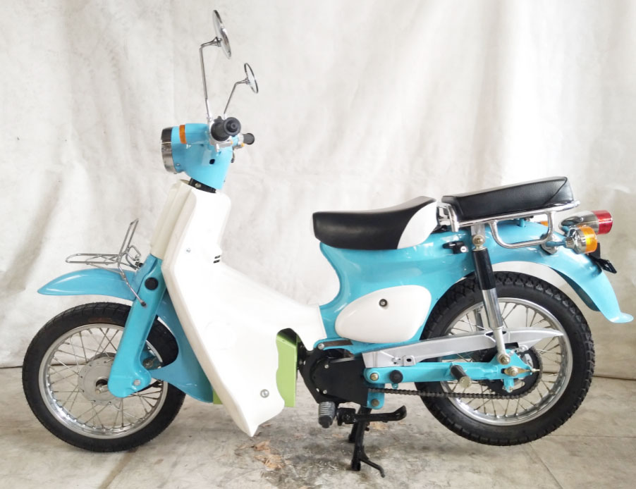 Lowest yet exclusive of them all, The Super Cub Motorcycle