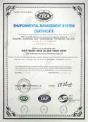 Passed 18001 certification