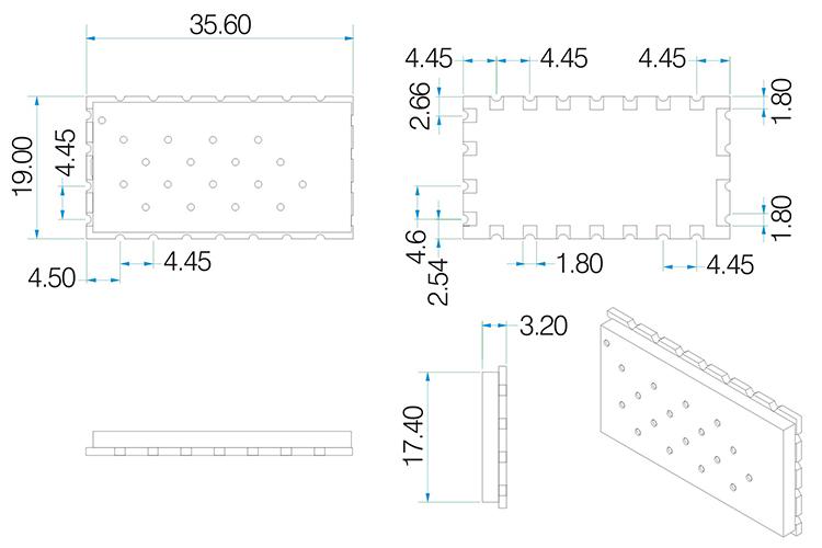SA818 Mechanical Dimensions