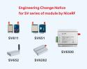 Engineering Change Notice for SV series of module by NiceRF