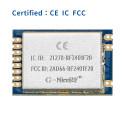 2.4 GHz nRF24L01+ CE FCC IC Certificated Wireless Transceiver Module RF2401F20