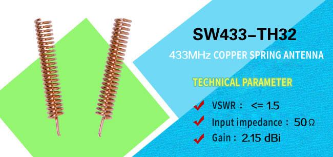 433MHz copper spring antenna SW433-TH32