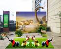 Dinosaur small landscape design for shopping mall