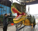Painting for a 10 meters T-rex model
