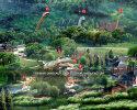 Large Dinosaur park design