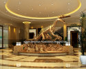 Lobby dinosaur skeleton fossil design