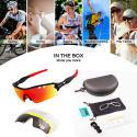 cycling sunglasses set
