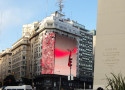 Outdoor full color LED screen in Republic Square, Buenos Aries, Argentina