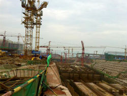 Part of Jiangbei Airport extension project constructed by Chongqing Construction Engineering Group