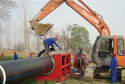 Huaian water supply pipeline worksite SHD1200 welding machine