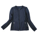 Men's Fashionable Winter Navy Blue Quilted Jacket Coat