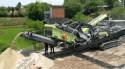 MESDA MC-150IS Impact Crusher working at job site